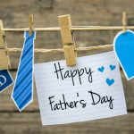 """On Father's Day, many people make a special effort to visit their father. They often take or send cards and gifts. Common Father's Day gifts are ties, socks, underwear, sweaters, slippers and other items of clothing. Other people give tools for household maintenance or garden work, luxury food items or drinks. Many Father's Day gifts have slogans such as """"The World's Best Dad"""", """"For My Father"""" or just a simple """"Dad"""" on them. The increase in print-on-demand services offered by photo processing companies has made personalized gifts even more popular for Father's Day. Photographs of children can be printed on desk calendars, mugs, T-shirts, mouse mats, bags and even ties. Many fathers are expected to take these to the office to remind them of their families while they are working."""